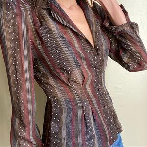 Vintage Johnathan Martin sheer blouse